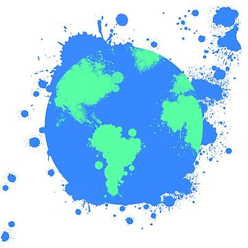 Planet Earth Splatter Design by Jaycup