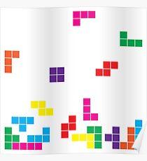 tetris on white Poster