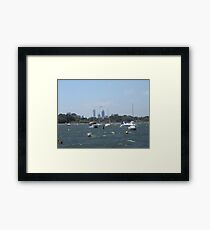 The Swan River On A Windy Day. Crawley. Framed Print