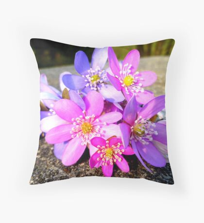 A bunch of liverleaves Throw Pillow