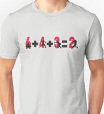 Camiseta ajustada Doble juego de béisbol: 6 + 4 + 3 = 2