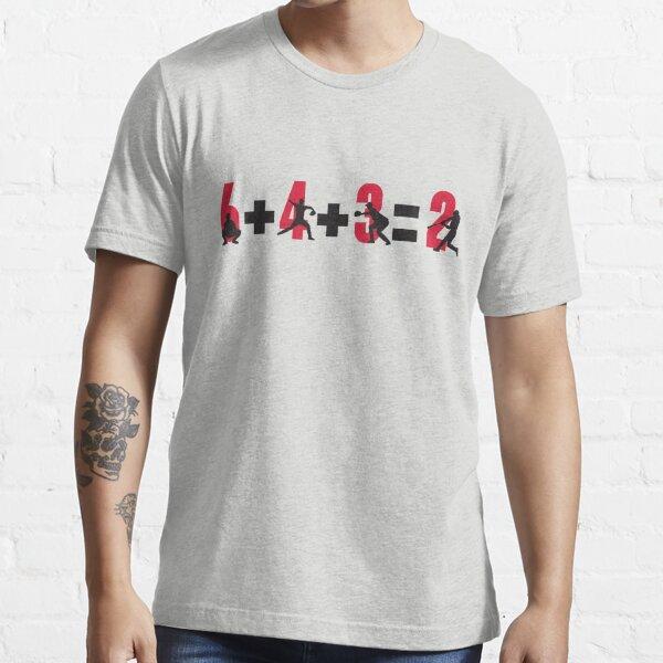 Doble juego de béisbol: 6 + 4 + 3 = 2 Camiseta esencial