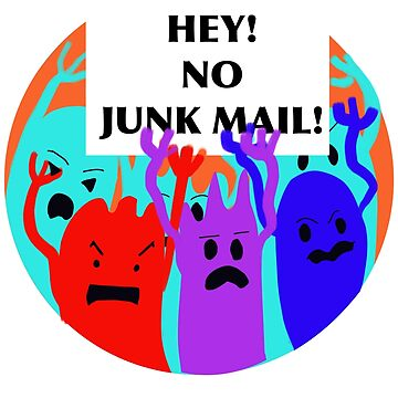 No Junk Mail Monsters by lynhurring