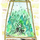 Forest Fantasy Terrarium with Woods Monster by KimDebling