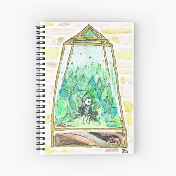 Forest Fantasy Terrarium with Woods Monster Spiral Notebook