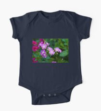 Sweet Pink Dianthus Flowers One Piece - Short Sleeve