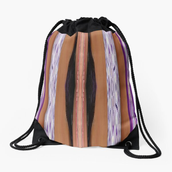 pattern, design, tracery, weave, drawing, figure, picture, illustration Drawstring Bag