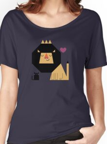Love Lion T-shirt femme coupe relax