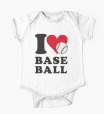 I love baseball Kids Clothes