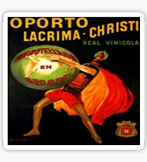 "LACRIMA CHRISTIE..""The Tears of Christ"", originally an Italian Wine made near Naples. Vintage Poster Sticker"