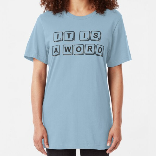 a statement in vocabulary Slim Fit T-Shirt