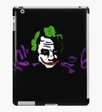 Black joker iPad Case/Skin