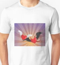Good and evil hearts Unisex T-Shirt