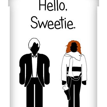 Hello, Sweetie, greetings card by mime666
