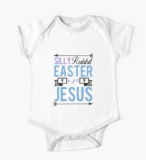 Silly Rabbit Easter Is For Jesus Shirt Christian Holiday Tee One Piece - Short Sleeve