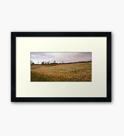 Village scenery Framed Print