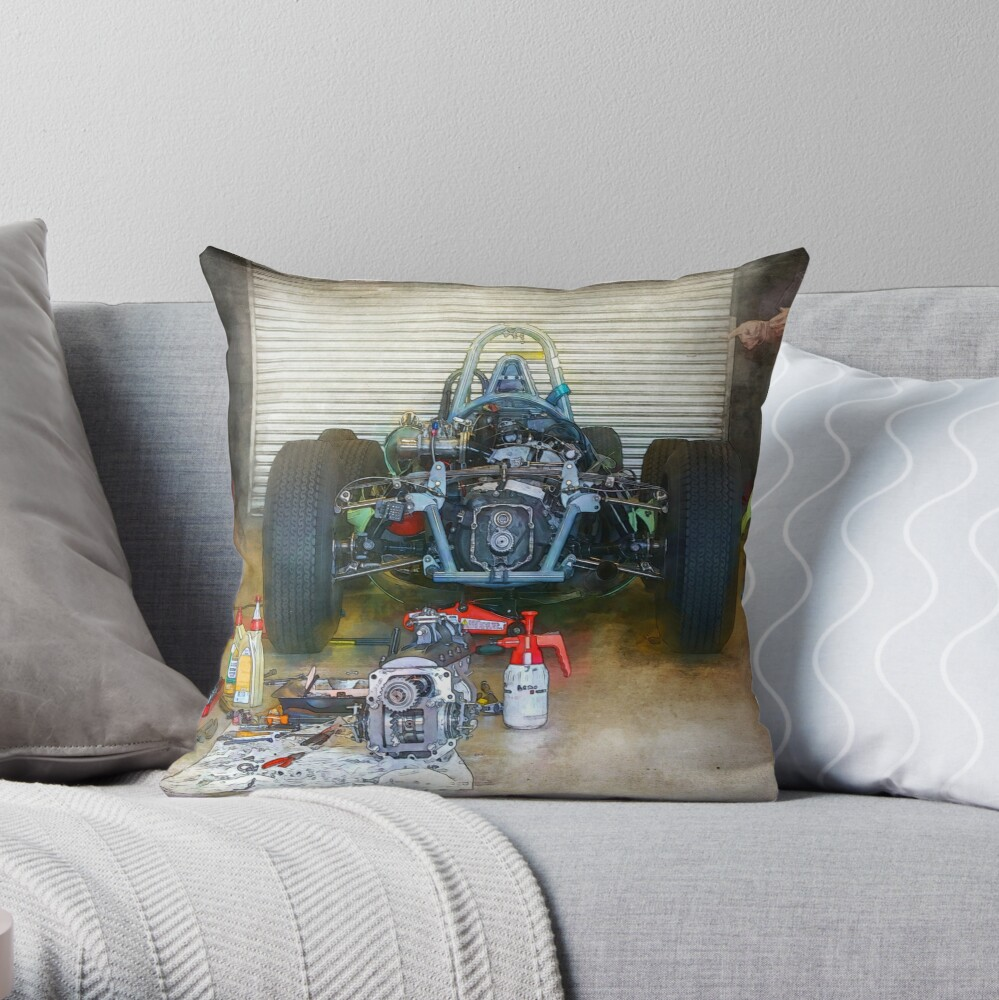 Gearbox Troubles Throw Pillow