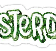 Amsterdam Weed Leaf Graffiti Outline Sticker
