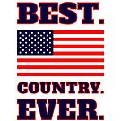 Colorful Best Country Ever American Flag by JanusianGallery