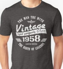 Vintage 1958 - 60th Birthday Gift For Men Unisex T-Shirt