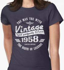 Vintage 1958 - 60th Birthday Gift For Men Women's Fitted T-Shirt
