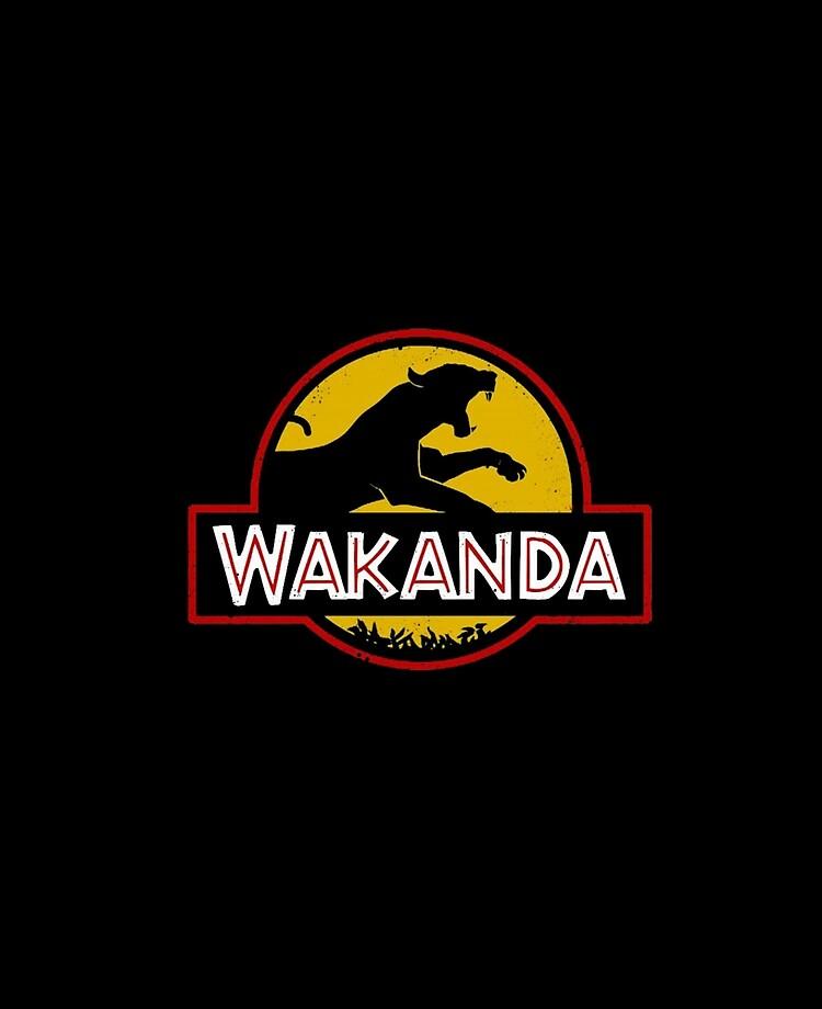 Wakanda in the style of Jurassic Park Logo Decal//Sticker