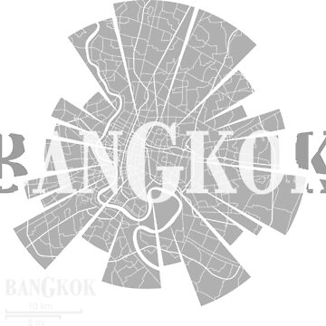 Bangkok map by UrbanizedShirts