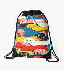 COLORED CUTE DOGS PATTERN 2 Drawstring Bag