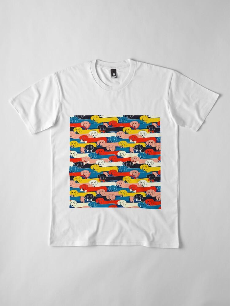 Alternative Ansicht von FARBIGES NETTES HUNDE-MUSTER 2 Premium T-Shirt