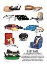 Greyhound Glossary: Bed Fail. A Redbubble exclusive design by RichSkipworth