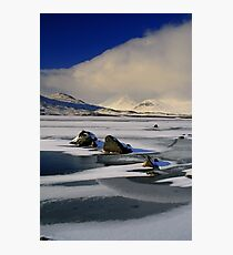 Blackmount Snowstorm Photographic Print