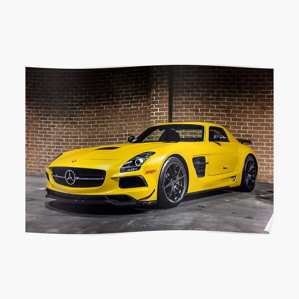 Mercedes SLS AMG Black Series Poster
