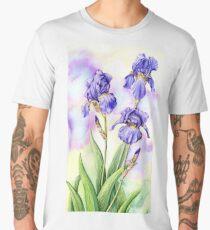 Bearded Iris (watercolour on paper) Men's Premium T-Shirt