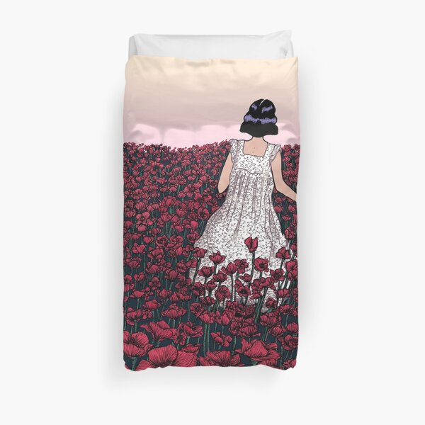 Field of Poppies | Coloured Version Duvet Cover