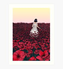 Field of Poppies | Coloured Version Art Print