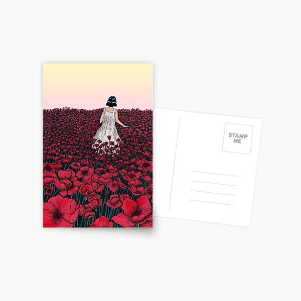 Field of Poppies | Coloured Version Postcard