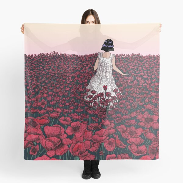 Field of Poppies | Coloured Version Scarf