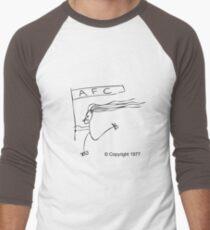 Man on Rollerskates (black) Men's Baseball ¾ T-Shirt