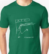 Man on Rollerskates (white) Unisex T-Shirt