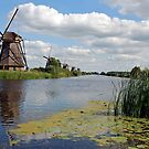 Windmills of Kinderdijk by Arie Koene