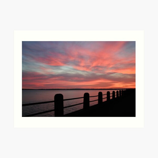Sunset over Charleston Harbor Art Print