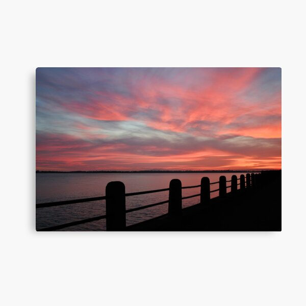 Sunset over Charleston Harbor Canvas Print