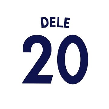 Dele Alli Tottenham Shirt Illustration by DanDobsonDesign