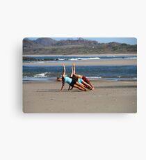 Beach Yoga Canvas Print