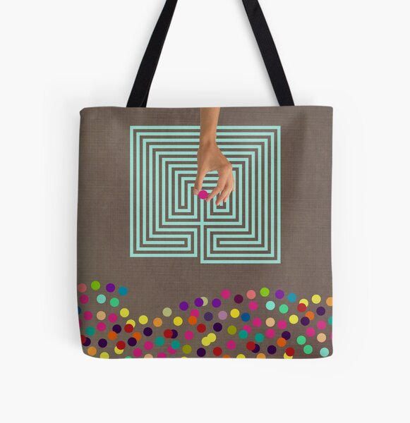 Color Chaos Collection -- Labyrinth All Over Print Tote Bag