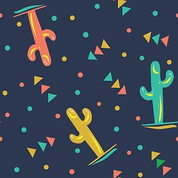 Colorful Cactus Pattern by semas