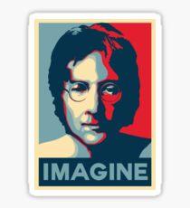 John Lennon Abstract Modern Art Sticker