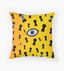 Color Chaos Collection -- They Are Watching Throw Pillow