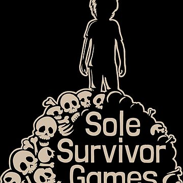 Sole Survivor Games - Logo (for Black T-shirt/background) by jomorley