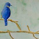 Bluebird #2 by karenlaurieart